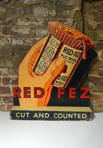 1950s Cutout & Countered Sign (1 of 5)