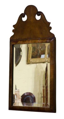 Queen Anne Style Walnut Cushion Mirror (1 of 4)