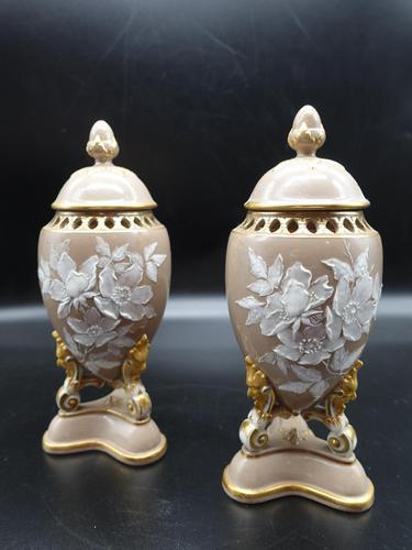 Attractive Pair of Late 19th Century Pâte-Sur-Pâte Vases (1 of 6)