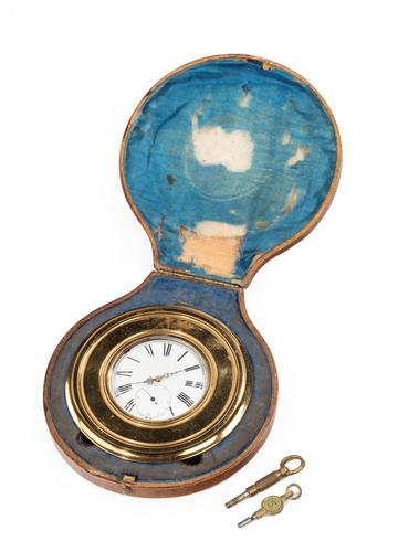 Late 19th Century Brass Table Watch or Strut Clock (1 of 5)