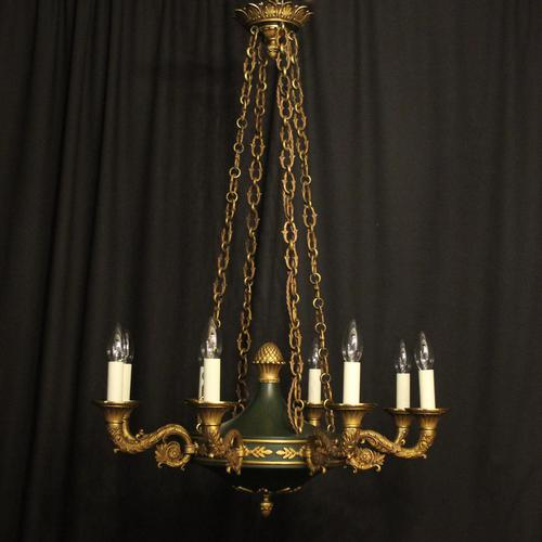 French Bronze Empire 8 Light Antique Chandelier (1 of 7)