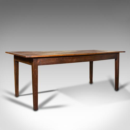 Antique Farmhouse Table, English, Pine, Country Kitchen, Dining, Victorian, 1900 (1 of 10)