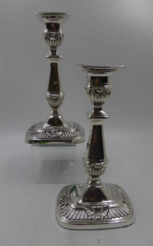 Pair of Antique Silver Candlesticks London 1906 (1 of 11)