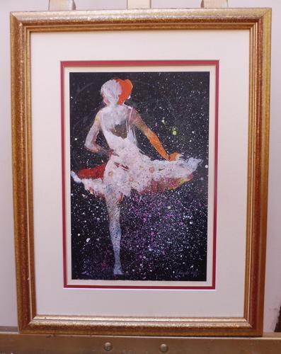Watercolour Prima Donna Ballerina Signed (1 of 12)
