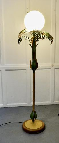 Unusual French Conservatory Painted Toleware Floor Lamp (1 of 10)