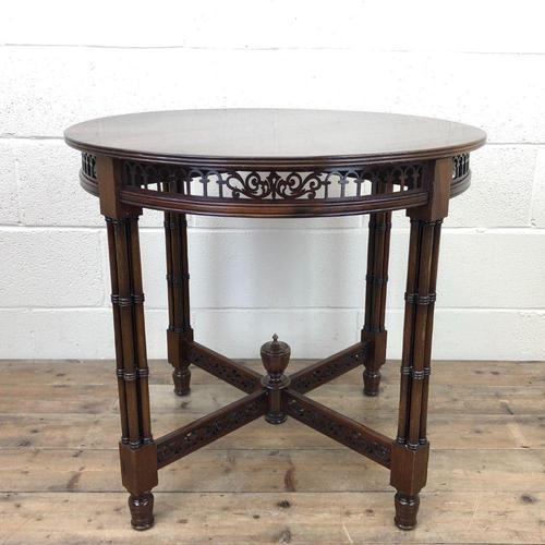 Antique Walnut Circular Centre Table (1 of 10)