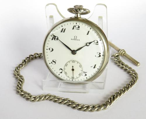 1930s Omega Pocket Watch with Chain (1 of 5)