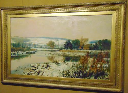 Large Victorian Oil Landscape by C.J.Fox (1 of 5)