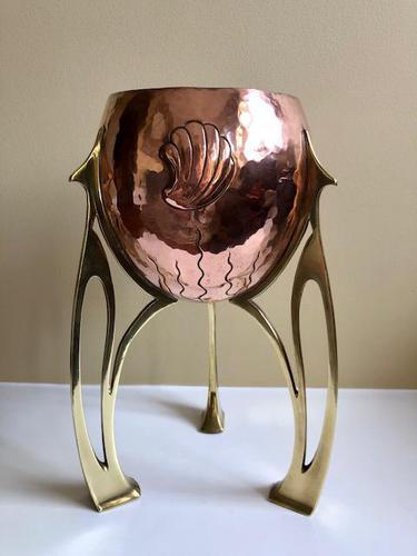 Jugendstil WMF Copper & Brass Jardiniere Planter, Art Nouveau (1 of 11)