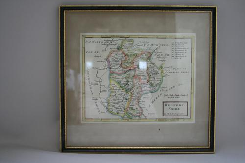 Original Map of Bedfordshire by Herman Moll (1 of 4)