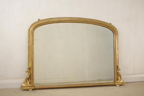 Victorian Giltwood Arch Top Overmantle (1 of 7)