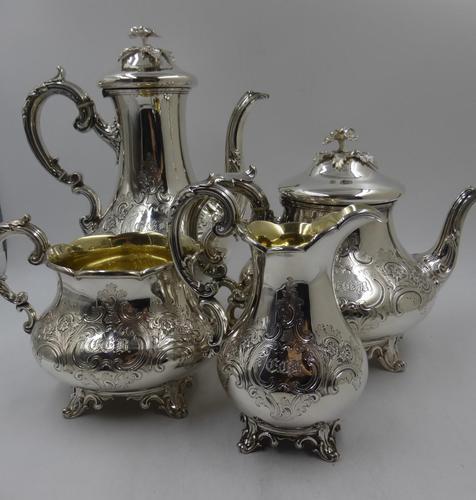 Antique Victorian Silver Tea Set London 1843 by Barnard Bros (1 of 11)