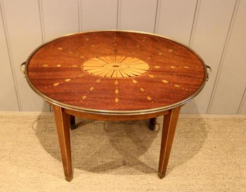 Low Inlaid Oval Table (1 of 9)