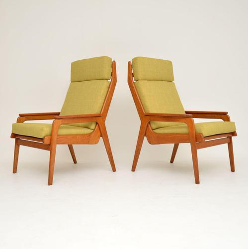 1960's Pair of Vintage Dutch Teak & Oak Armchairs (1 of 11)