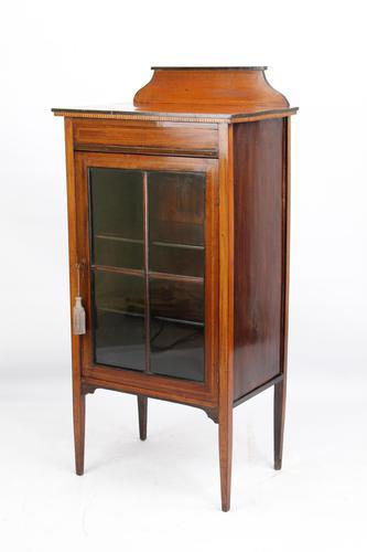 Small Edwardian Mahogany Inlaid Bookcase (1 of 14)