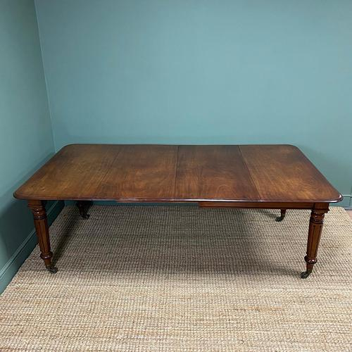 Large Stunning  Victorian Figured Mahogany Antique Wind Out Dining Table (1 of 9)