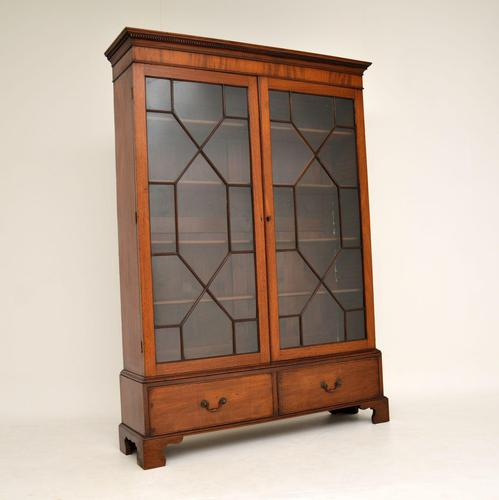 Antique Georgian Mahogany Astral Glaze Bookcase (1 of 12)