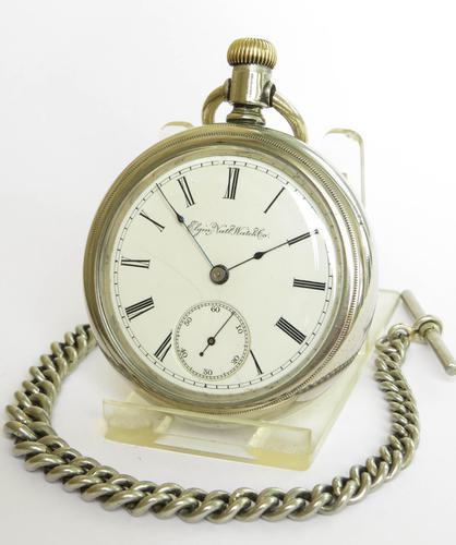 Antique Elgin G M Wheeler Pocket Watch, 1890 (1 of 4)