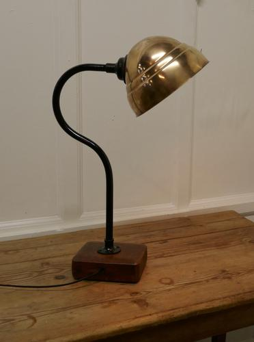 Large Industrial Look Desk Lamp (1 of 5)