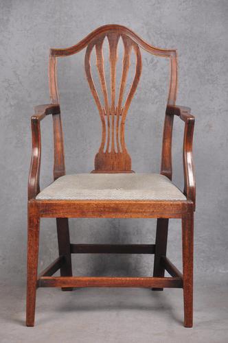 18th Century Mahogany Hepplewhite Armchair (1 of 10)