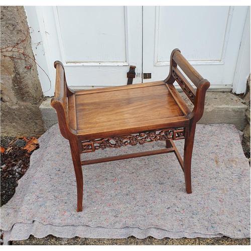 19th Century Chinese Hardwood Window Seat (1 of 7)
