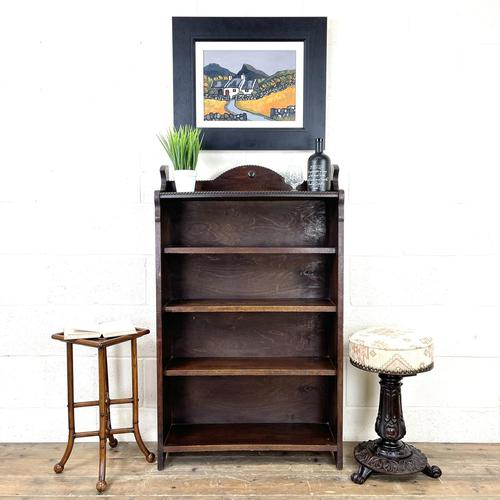 Early 20th Century Antique Oak Bookcase with Four Shelves (1 of 10)