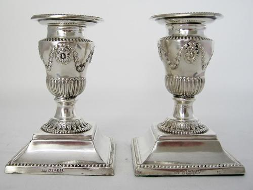 Pair of Victorian Silver Candlesticks (1 of 6)