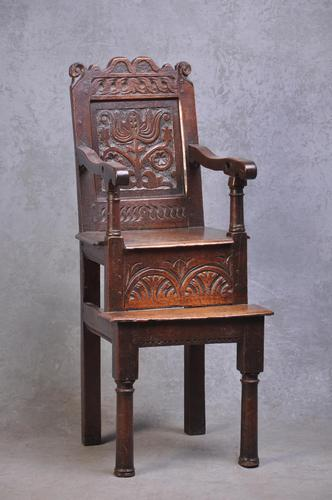 17th Century Yorkshire Child's High Chair (1 of 9)