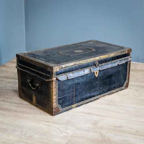 Victorian Leather & Brass Studded Trunk (1 of 14)