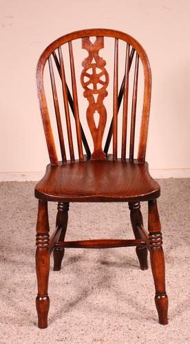 Set of 10 Windsor Wheelback Chairs 19th Century -  England (1 of 11)