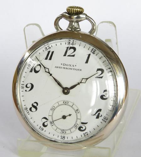 Historical 1930s Silver Doxa Pocket Watch (1 of 5)