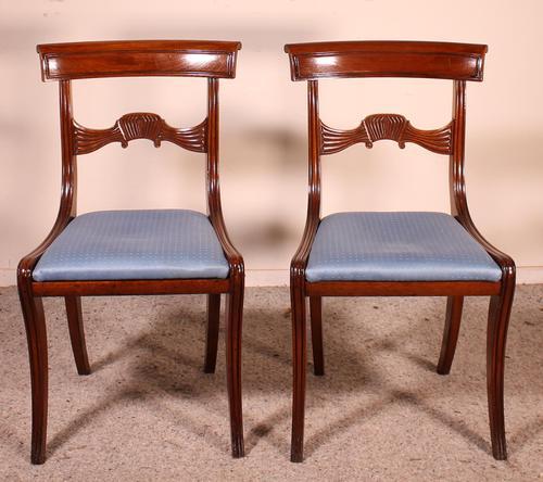 Two Regency Mahogany Chairs Circa 1800 (1 of 8)