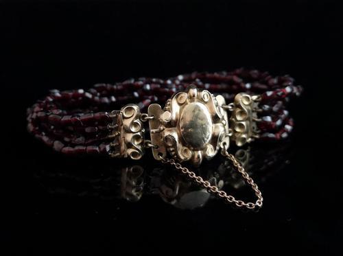 Victorian Bohemian Garnet Bead Bracelet (1 of 11)