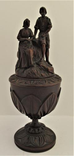 Swiss Black Forest Presentation Carved Wooden Cup with Figures c.1890 (1 of 9)