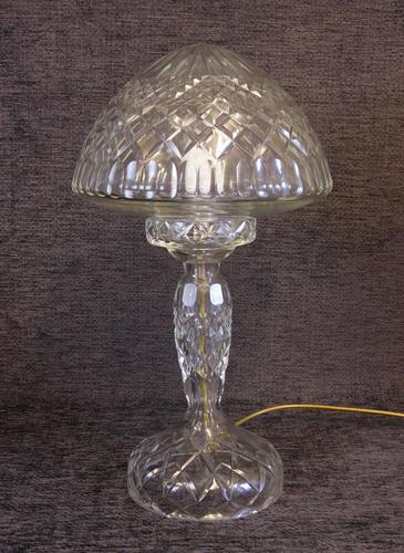 Quality Cut Glass Mushroom Table Lamp (1 of 6)