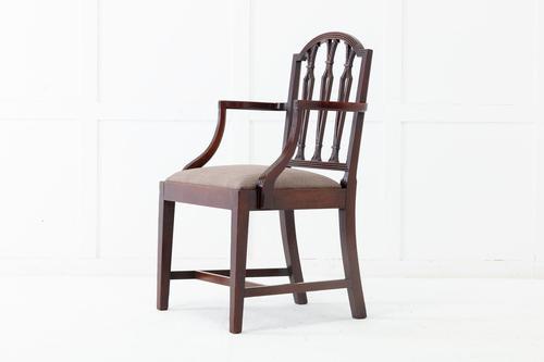 George III Mahogany 'Sheraton Style' Elbow Chair (1 of 7)