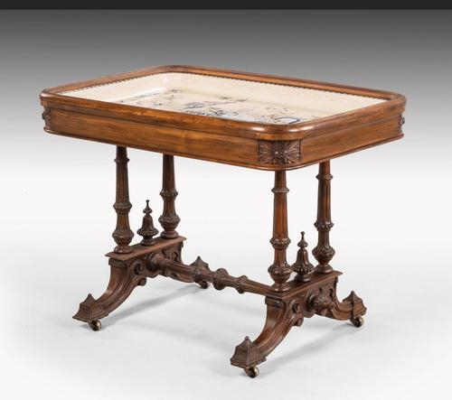 Hardwood Danish Basin Table from the Third Quarter of the 19th Century (1 of 7)