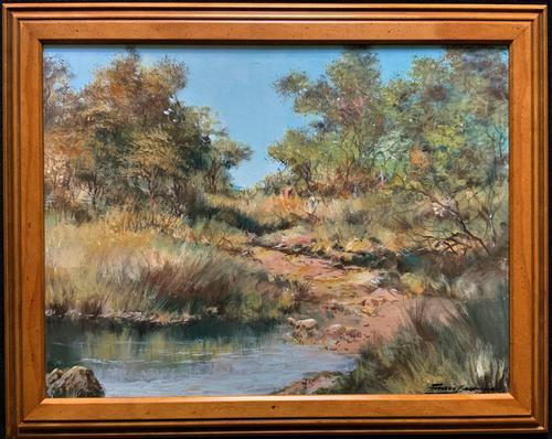 Francois Badenhorst S.A - South African Bush Landscape Oil Painting (1 of 12)