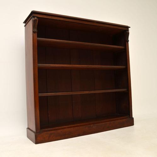 Antique William IV  Mahogany Open Bookcase (1 of 11)