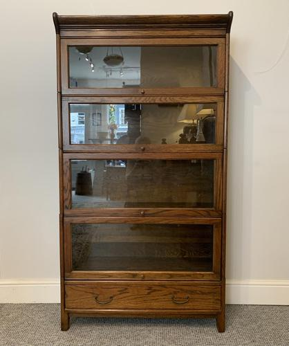 Antique Oak Stacking Lawyer's Bookcase (1 of 16)