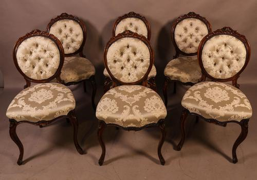 Fantastic Set of 6 Victorian Walnut Dining Chairs (1 of 14)
