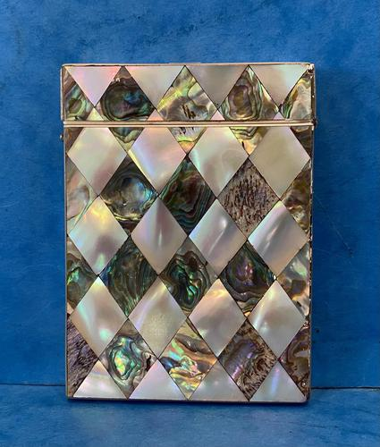 Victorian Abalone & Mother of Pearl Card Case (1 of 15)