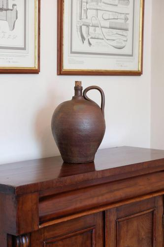 Ovoid form continental earthenware oil jars 285 high (1 of 2)