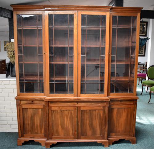 19th Century Victorian Mahogany Breakfront Bookcase (1 of 11)