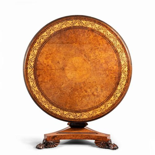 George IV Tilt-top Centre Table by George Bullock (1 of 8)