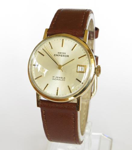 Gents 9ct Gold Swiss Emperor Wrist Watch (1 of 5)