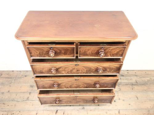 Victorian Mahogany Straight Front Chest of Drawers (1 of 11)