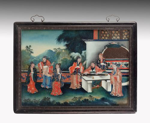 Good Early 20th Century Chinese Reverse Glass Painting (1 of 4)