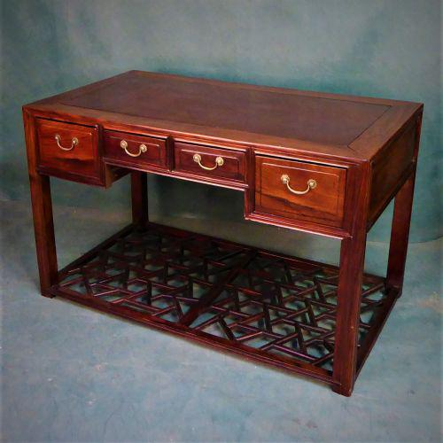 Hong Kong Scholars Desk with Four Long Drawers (1 of 2)