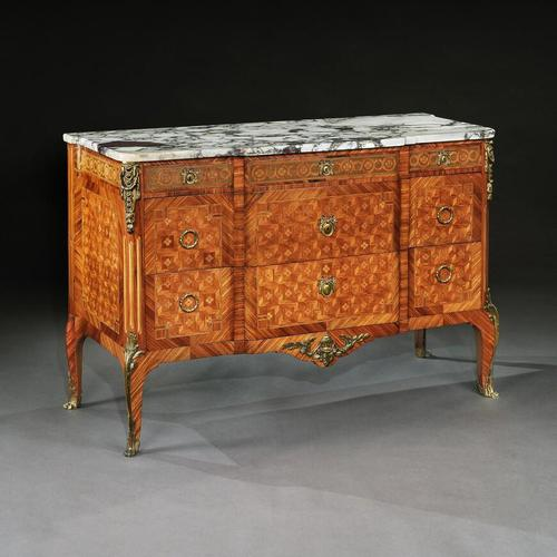 Late 19th Century French Gilt Bronze Mounted Tulipwood & Kingwood Marble Topped Commode (1 of 10)